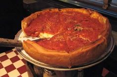 UNO'S FAMOUS DEEP-DISH PIZZA  Recipe shared by Uno in celebration of the 65th anniversary of Uno's Chicago-Style Pizza.-Chicago pizza is a not your typical pizza. When Pizzeria Uno founders, Ike Sewell and Ric Riccardo, invented it in 1943, they weren't trying for true Italian. They believed Chicagoans needed something more substantial: deep dish pizza, which is more a casserole than a flatbread.