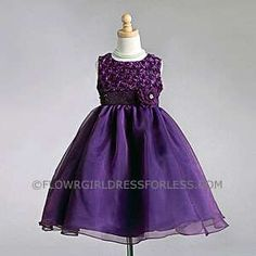 Flower Girl Dress Style 917- Embroidered and Beaded Sleeveless Taffeta Dress with Gorgeous Flowers
