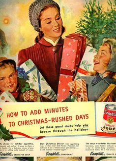 vintage Christmas time ad