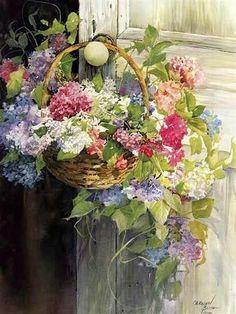 Beautifully Colorful Flowering Basket!!