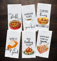 Fall Decor - Funny Kitchen Towels - Fall Towels - Talk Turkey - Autumn Decor - Funny Hostess Gift - Housewarming Gift - Gift for Cook Kitchen Towels, Kitchen Decor, Kitchen Signs, Design Kitchen, Kitchen Curtains, Diy Kitchen, Kitchen Storage, Kitchen Dining, Dish Towels
