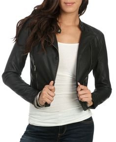 Quilted Moto Jacket from WetSeal.com