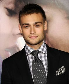 Douglas Booth at the premiere of 'Romeo and Juliet.' Grooming by Cheri Keating.