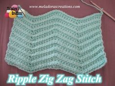 Crochet pattern that teaches you how to crochet a reversible Ripple Zig Zag Stitch which can easily be used to make a garment or afghan.