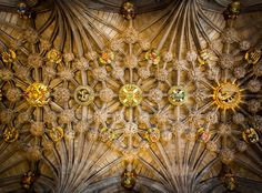 The Thistle Ceiling Chapel in Edinburgh which is located in the St. Giles Cathedral.