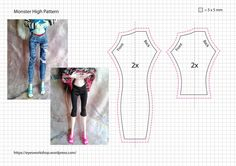 Sewing dolls clothes monster high New ideas Sewing Barbie Clothes, Barbie Sewing Patterns, Doll Dress Patterns, Sewing Dolls, Clothing Patterns, Diy Clothes, Monster High Doll Clothes, Custom Monster High Dolls, Monster Dolls