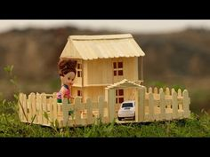 How to make a Popsicle Stick Doll House - YouTube