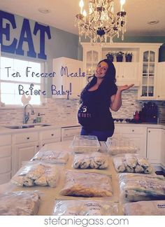 10 Freezer Meals to Make Before Baby Easy, Affordable, Fast! www stefaniegass com is part of Freezer meals - Make Ahead Freezer Meals, Crock Pot Freezer, Freezer Cooking, Meal Prep Freezer, Easy Meals To Make, Best Meals To Freeze, Freezer Dinner, Vegetarian Freezer Meals, Chicken Freezer Meals