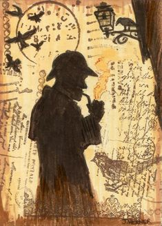 The Adventures of Sherlock Holmes – sketch cards by Joshua Werner Click the lin… - Carol Dailey Quotes Sherlock, Sherlock Poster, Sherlock John, Sherlock Tattoo, Sherlock Holmes Book, Detective Sherlock Holmes, Famous Detectives, Elementary My Dear Watson, Adventures Of Sherlock Holmes