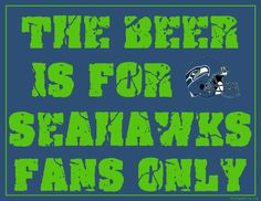 property of seattle seahawks | Printable Seattle Seahawks Man Cave Sign