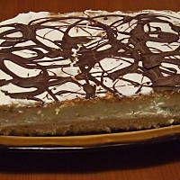 Ciasto biszkoptowe bananowo - śmietanowe