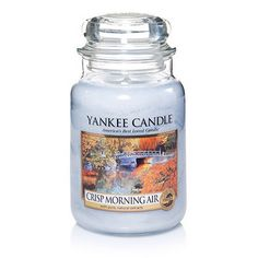 Yankee Candle Crisp Morning Air : With the crisp scents of eucalyptus and mint layered beneath soft pear and sage, it's like that first deep breath of bright, clean air on a morning far, far away.