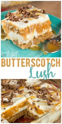 Butterscotch Lush is a dessert made from Graham Cracker Crust, cream cheese . - Butterscotch Lush is a dessert made from Graham Cracker Crust, cream cheese, … – # - 13 Desserts, Layered Desserts, Brownie Desserts, Delicious Desserts, Jello Pudding Desserts, Jello Dessert Recipes, Icebox Cake Recipes, Easy Summer Desserts, Birthday Desserts