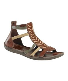 Take a look at this Brown Papaye W2 Gladiator Sandal - Women by Kickers on #zulily today!