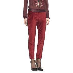 Altuzarra for Target Velvet Tuxedo Ankle Pant- Ruby Hill