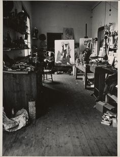 An interior of Picasso's studio, circa 1949–70, Alexander Liberman. The Getty Research Institute.