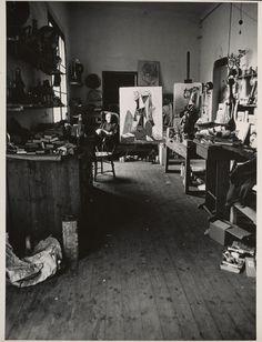 An interior of Picasso's studio, circa 1949–70