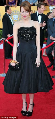 Emma Stone in Alexander McQueen at the SAG awards 2012