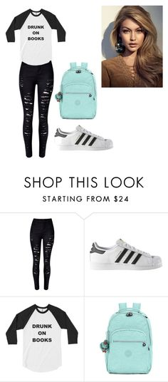 """""""^^"""" by gigi-xcx-493 ❤ liked on Polyvore featuring beauty, WithChic, adidas and Kipling"""