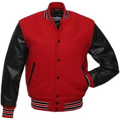Shop a great selection of Original Varsity Letterman Jackets Team Colors) Wool & Leather XXS Find new offer and Similar products for Original Varsity Letterman Jackets Team Colors) Wool & Leather XXS Varsity Letterman Jackets, Baseball Jackets, Italian Leather Jackets, Leather Sleeve Jacket, Men's Coats And Jackets, Outerwear Jackets, Red Jackets, Jacket Style, Leather Fashion