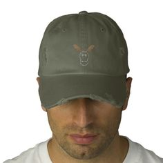 #Funny #Reindeer #Embroidered #Hat for u at www.zazzle.com #zazzle #superdumb