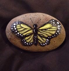 Butterfly+Painting+-+On+A+Hand+Painted+Rock+-+Spring+Gift+-+C+Michel+#Realism
