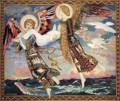 petitpoulailler:  chrysaoraelectrum: 1913 John Duncan (Scottish; 1866-1945) ~Saint Bride