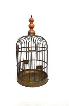 Bird Cage 24 inch / Antique Brass Bird Cage / Solid by AllPicked