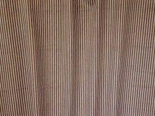Malabar Chocolate Cotton Stripe Fabric - Curtains & Upholstery - The Millshop Online #fabric