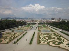 Los jardines de Belvedere, Viena