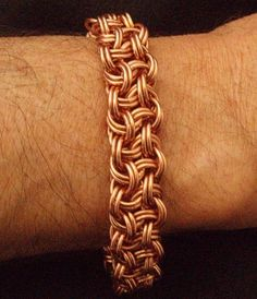 Vipera Berus Doubled Chainmaille Bracelet by Clever Wench  @rajcockspinhead what do you think about this in whatever metal you prefer?