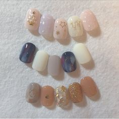 Discovered by AndyPardo_F. Find images and videos about nails, design and una on We Heart It - the app to get lost in what you love. Cute Acrylic Nails, Cute Nail Art, Cute Nails, Pretty Nails, Gel Nails, Korean Nail Art, Korean Nails, Nail Swag, Soft Nails