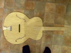 guitar matchstick art