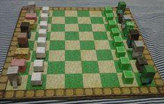 Minecrat Inspired Unofficial DIY Papercraft Chess by BlueCamelArt