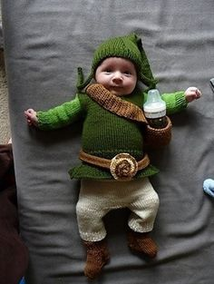 My poor child... He'll be dressed in everyone of my favorite characters, including Baby Zelda!!! xD
