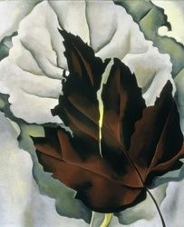 Georgia O'Keeffe,  Pattern of Leaves, 1923. Oil on canvas. © The Georgia O'Keeffe Foundation / Artists Rights Society (ARS), New York Acquired 1926, The Phillips Collection, Washington, D.C.