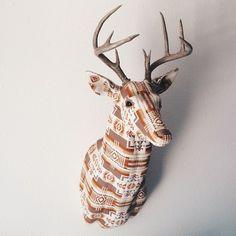 Far Away Lovely custom Pendleton deer head