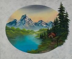 bob ross haven in the valley paintings for sale Oil Painting Gallery, Oil Painting Pictures, Pictures To Paint, Bob Ross Paintings, Paintings For Sale, Landscape Art, Landscape Paintings, Landscapes, Bob Ross Art