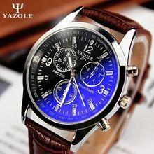 New listing Yazole Men watch Luxury Brand Watches Quartz Clock Fashion Leather belts Watch Cheap Sports wristwatch relogio male(China (Mainland))