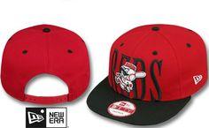 da8ca3ae7de Reds STEP-ABOVE SNAPBACK Red-Black Hat by New Era on hatland.com