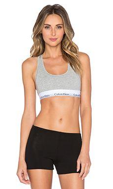 Calvin Klein Underwear Modern Cotton Bralette in Grey Heather