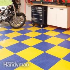 Garage floor coatings like epoxy paint or concrete stain, or coverings like snap-together tiles or floor mats instantly improve your garage. Here's an overview of what's available.
