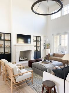 May 2020 - Shop Geoffrey Chandelier, Hale Sofa, Hackney Bridge Arm Floor Lamp, Brass Circle in Square and Room Design, Living Room Furniture, Minimalist Living Room, Minimalist Living Room Decor, Room Inspiration, House Interior, Living Room Design Modern, Home And Living, Living Room Designs