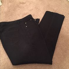 Just my size black jeans Sz 16 two are shown Just my size black jeans Sz 16  two are shown $14 each pristine condition Just my size  Jeans Ankle & Cropped