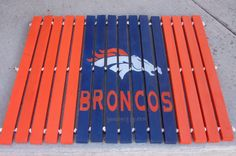 Denver Broncos Welcome Mat by SerendipityUT on Etsy, $55.00