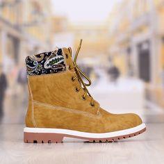 Ghete Dama Camel Cu Imprimeu Cod: 316p Timberland Boots, Cod, Camel, Shoes, Fashion, Moda, Zapatos, Shoes Outlet, Fashion Styles