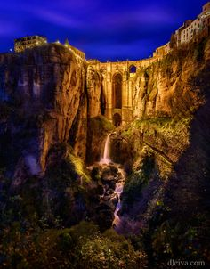 Puente Nuevo at dusk Ronda Spain by dleiva Ronda Spain, Dusk, Monument Valley, Grand Canyon, To Go, Places To Visit, Europe, Travel, Life
