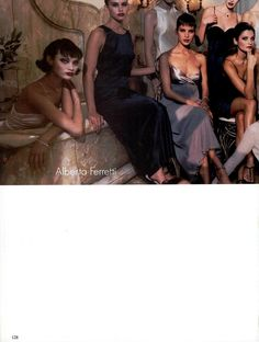 "VOGUE Italia - January 1995 - ""Collezioni Primavera-Estate 1995"" Photo: Michel Comte. Models: Shalom Harlow, Valeria Mazza, Patricia Velásquez and Helena Christensen."