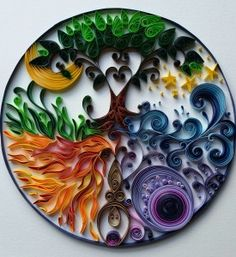 Quilled Goddess Mandala by Stacy Lash Bettencourt of Mainely Quilling in Jefferson, Maine.