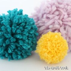 Create a simple DIY pom pom maker from a scrap of cardboard. Use our template to get the right size for small, medium and large pom poms.